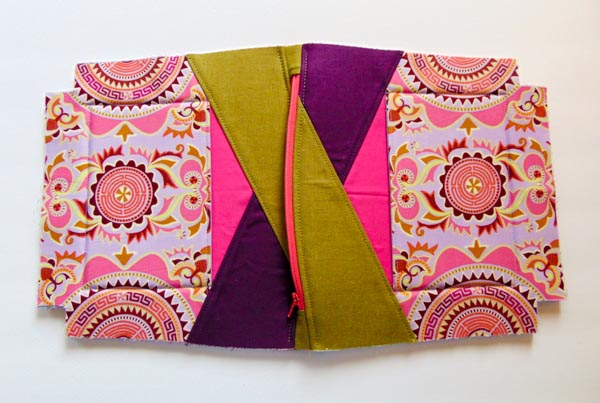 Zipper Sewn - Zip Top Stand Up Clutch - Andrie Designs