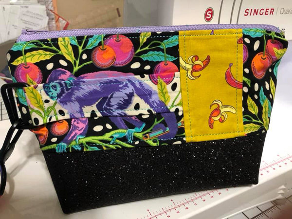 Front of Shauna's monkey Classic Clutch - Customer Creations - Classic Clutch - Andrie Designs