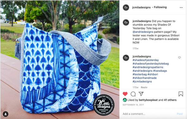 Instagram 9 - Customer Creations - Mini Shades & Shades of Yesterday - Andrie Designs