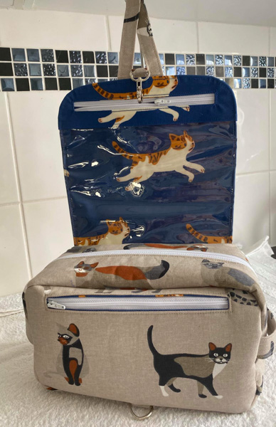 Inside Lana's Hang About Toiletry Caddy - Customer Creations - Toiletry Bag - Andrie Designs