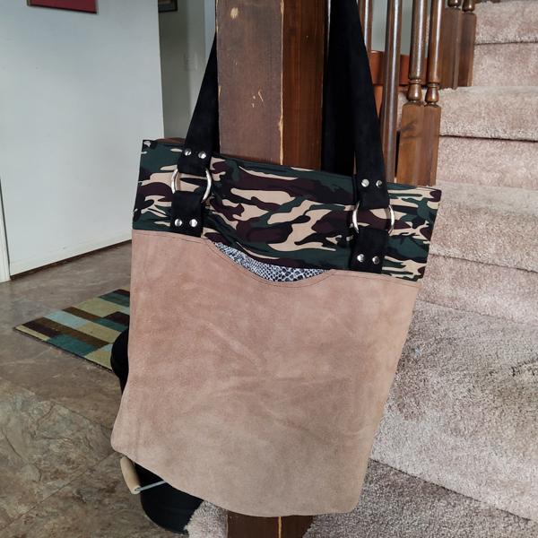 Crystal's Suede tote - Customer Creations - Classic Market Tote