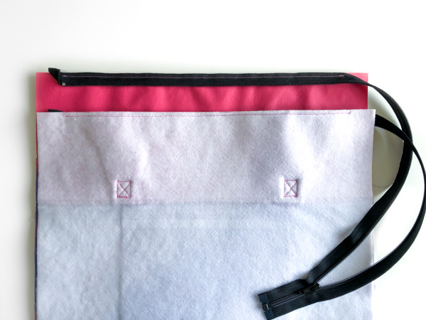 Exterior ready for finishing - Zippered Top Classic Market Tote - Andrie Designs