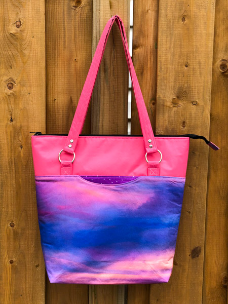 Finished Tote - Zippered Top Classic Market Tote - Andrie Designs