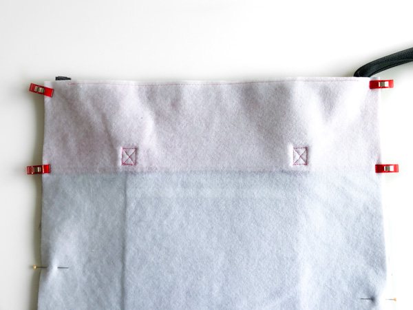 How to clip to sew - Zippered Top Classic Market Tote - Andrie Designs