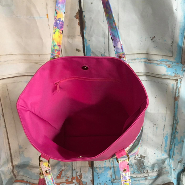 Inside of Elizabeths tote - Customer Creations - Classic Market Tote
