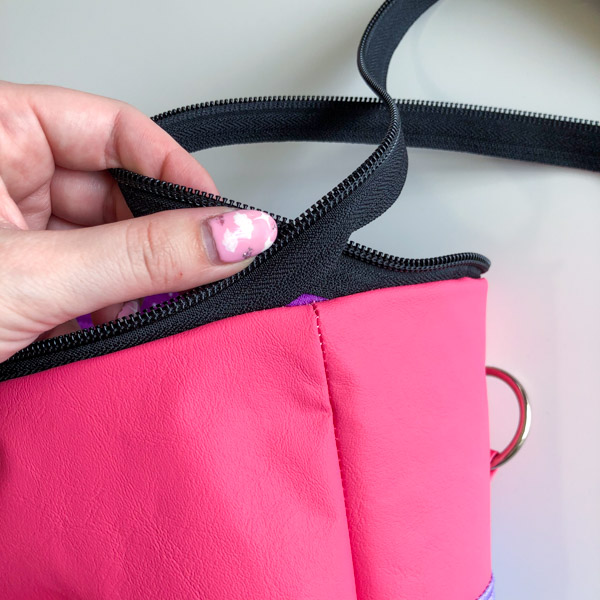 Keep zipper out of the way when top stitching - Zippered Top Classic Market Tote - Andrie Designs