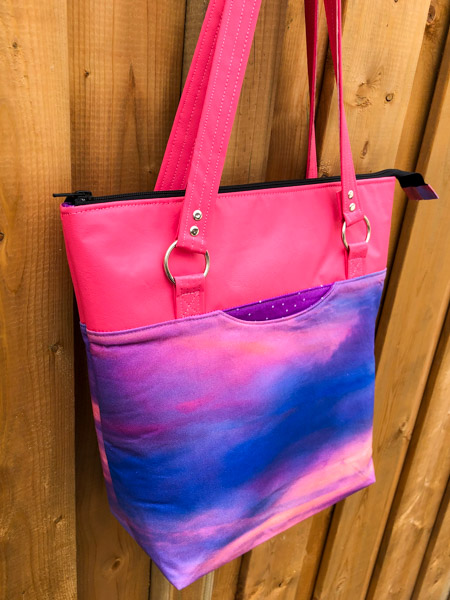 Zipper pull end - Zippered Top Classic Market Tote - Andrie Designs