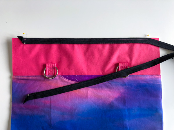 Zipper sewn in place - Zippered Top Classic Market Tote - Andrie Designs
