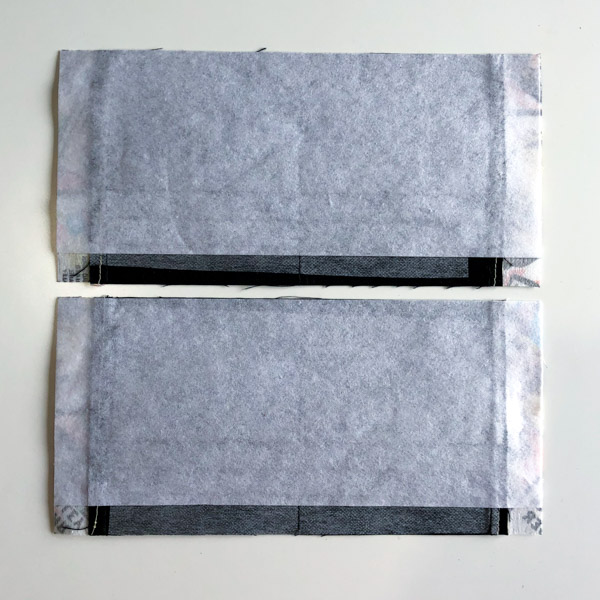 Add interfacing - Cleo Gets Extra Card Slots - Andrie Designs
