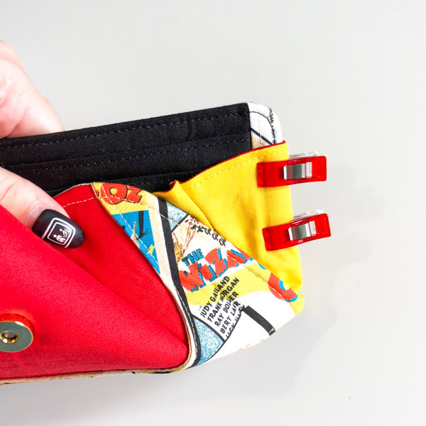 Fold back everything to stitch - Cleo Gets Extra Card Slots - Andrie Designs