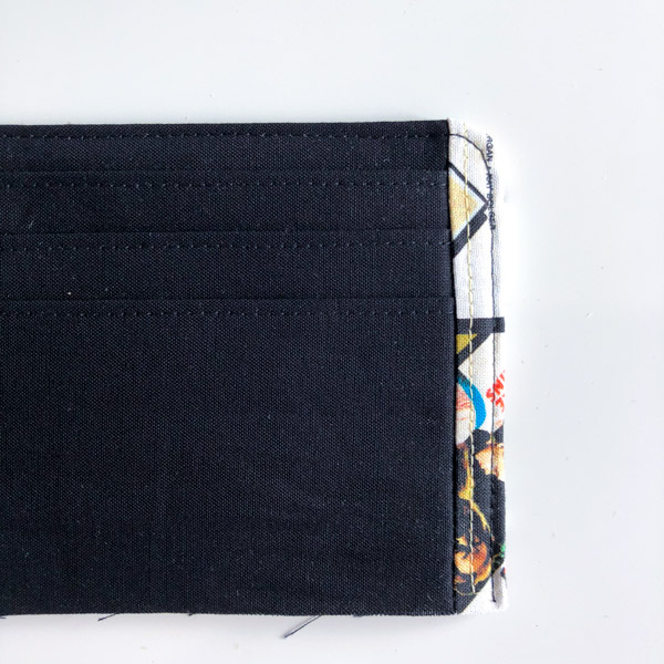 Top stitch extra slots - Cleo Gets Extra Card Slots - Andrie Designs