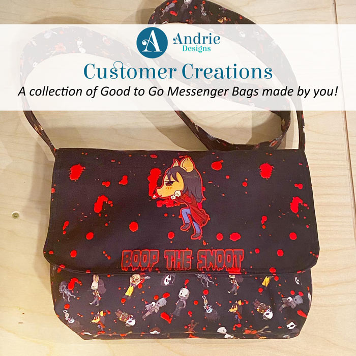 Customer Creations - Good-to-Go Messenger Bag - Andrie-Designs