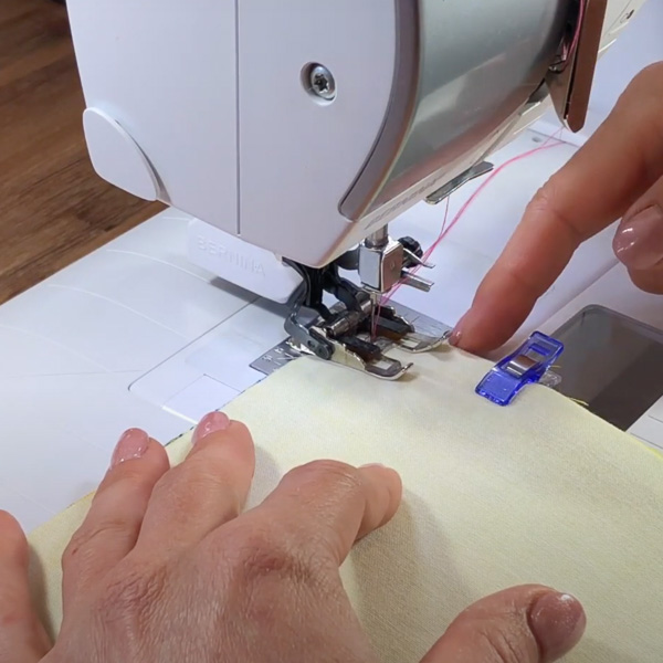 Don't watch at tip of foot - Stitching Curves - Andrie Designs