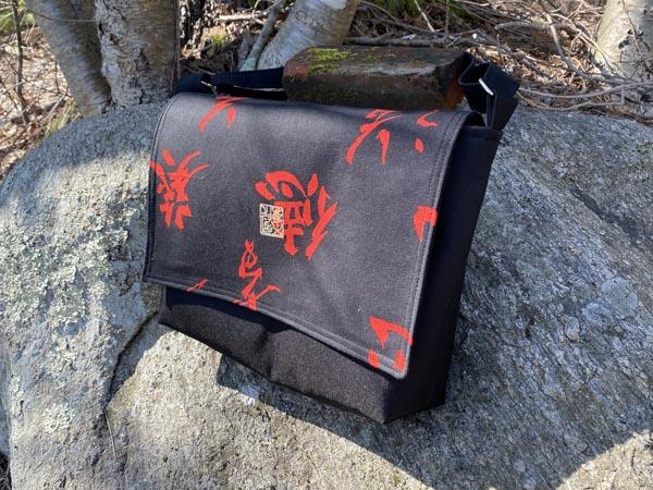 Karen Front - Customer Creations - Good to Go Messenger Bag - Andrie Designs