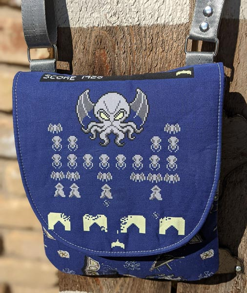 Kerry's Pixel themed Polly Crossbody Pouch - Customer Creations - Andrie Designs