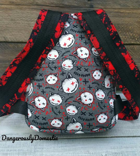 The back of Sara's Little Freehand Pack - Customer Creations - Little Freehand Pack - Andrie Designs